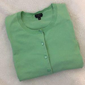 Talbots Short Sleeve Pima Cotton Cardigan